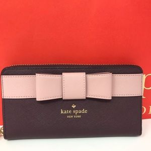 Kate spade Kirk park saffiano Lacey wallet NWT